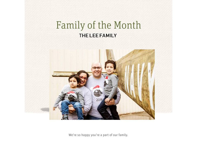 Family of the Month-The Lee Family!
