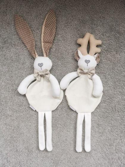 игрушка - комфортер, бежевый олень