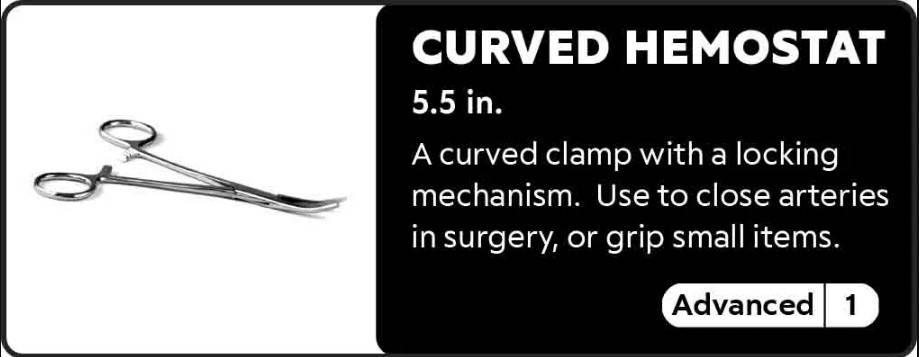 Curved Hemostat