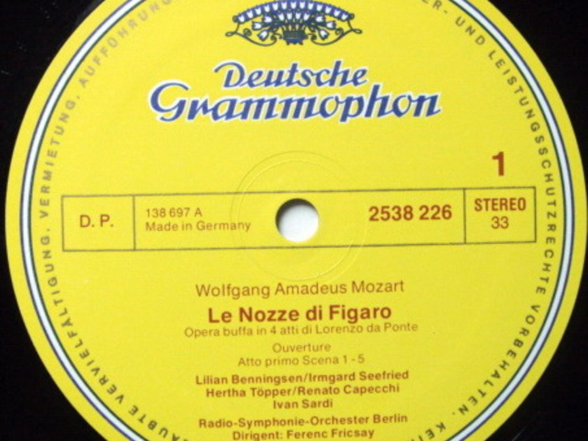DG / FRICSAY, - Mozart The Marriage of Figaro, NM, 3LP Box Set!