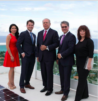 Omnia Group: [l-r:] Diana Torre, Michael Wagner, Steve Wagner, Ivan Hernandez and Cherie Cohen.