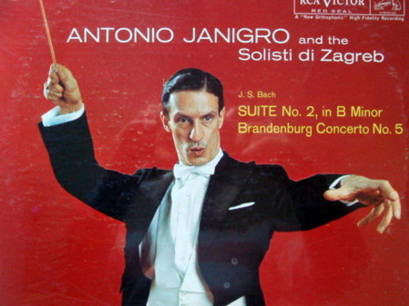 ★Sealed★ RCA LIVING STEREO / JANIGRO, - Bach Suite and Brandeburg Concerto, Original!