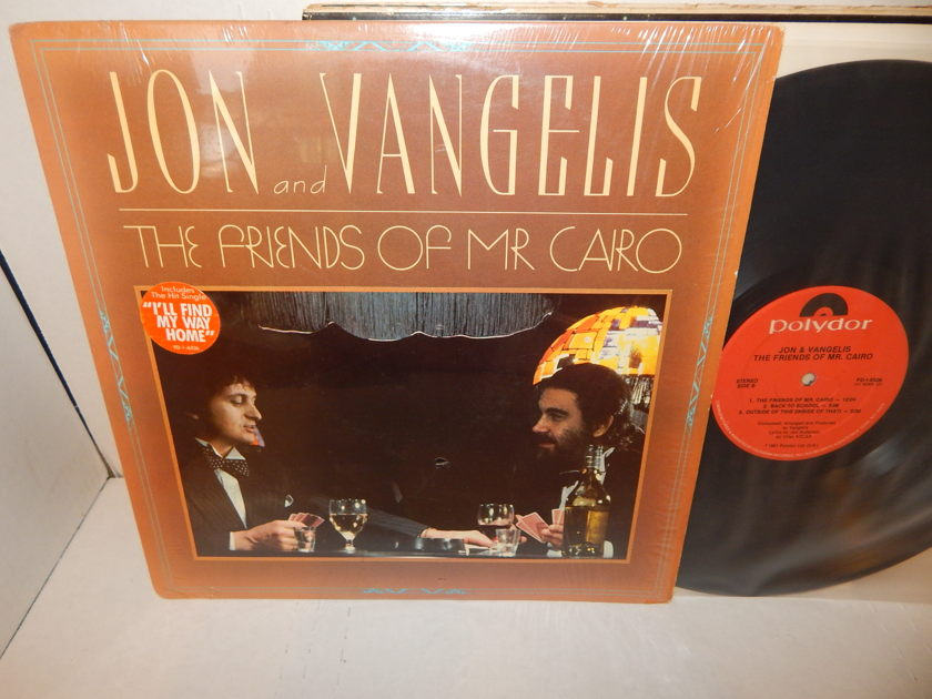 Jon Anderson and Vangelis - Friends Of MR. Cairo YES Shrink I'll Find My Way Home NM LP