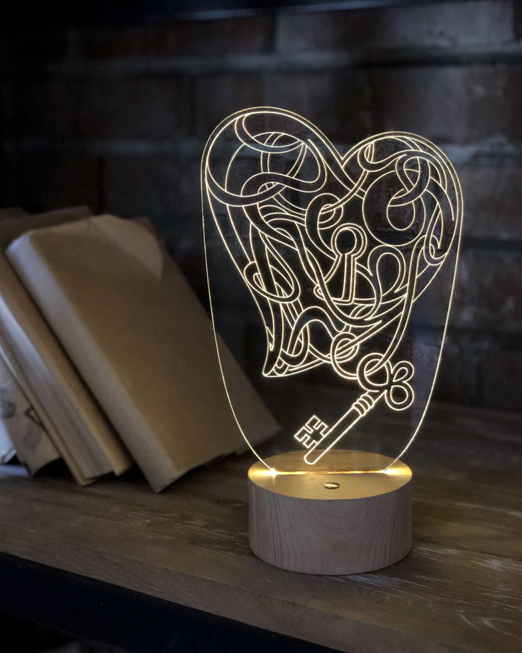 "Ночник ""Ключ от сердца"""
