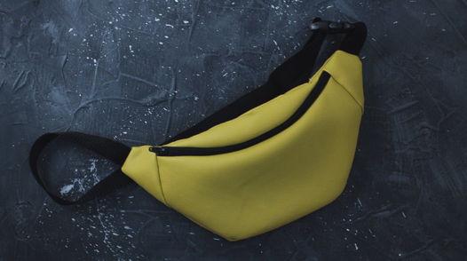 Поясная сумочка грушевого цвета