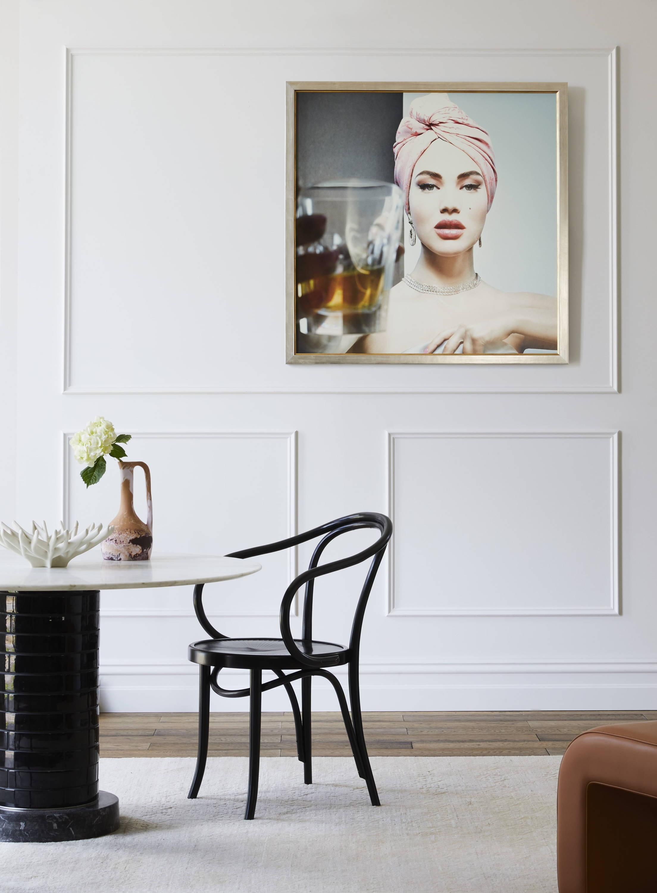 Framed Art in a Dining Room setting