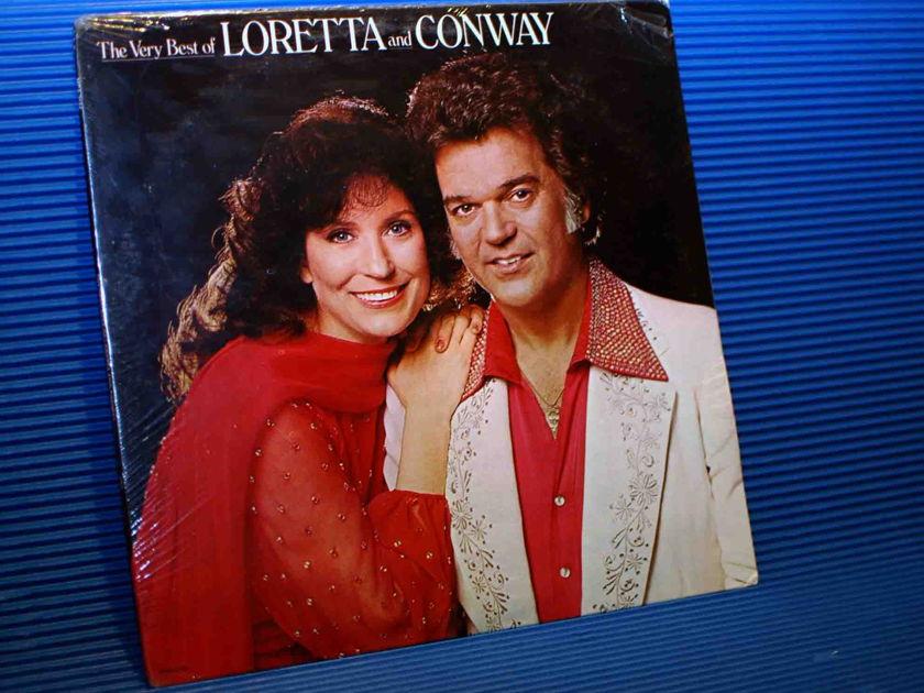 """LORETTA LYNN & CONWAY TWITTY   - """"The Very Best Of Loretta & Conway - MCA 1979 SEALED"""
