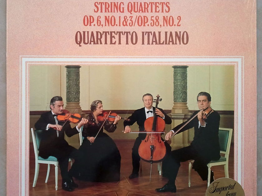 Philips/Quartetto Italiano/Boccherini - String Quartets Op.6 Nos. 1 & 3, Op. 58 No. 2 / NM
