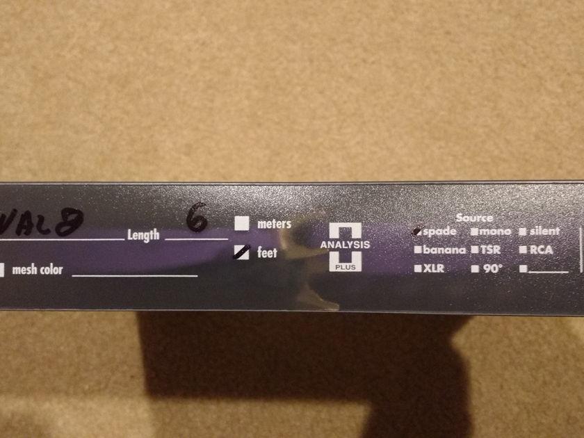 Analysis Plus Inc. Solo Crystal Oval 8 spk 6 ft pair, spades