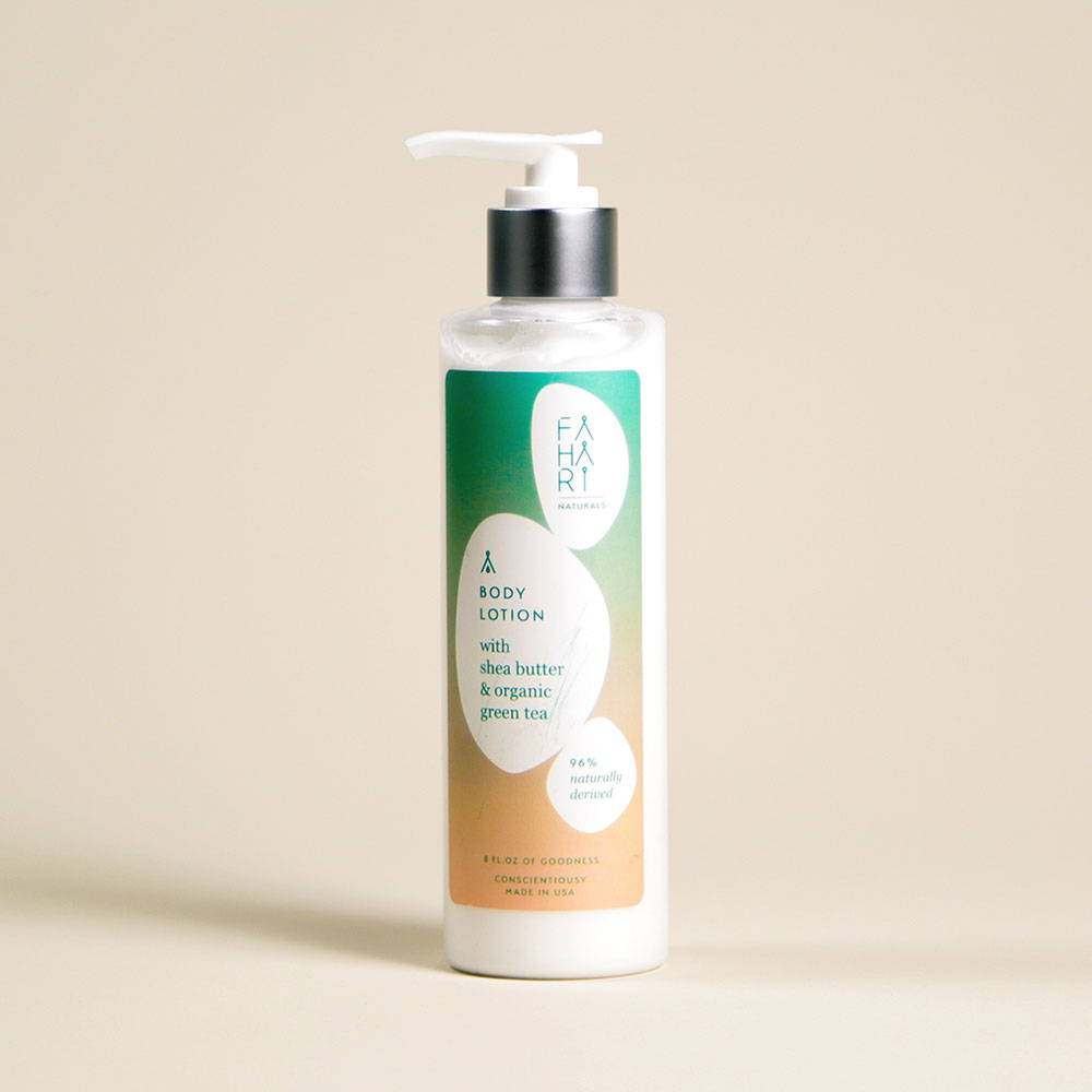 BODY LOTION WITH SHEA BUTTER & ORGANIC GREEN TEA