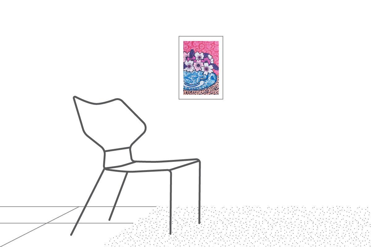 КАРТИНА НА ХОЛСТЕ «ЦВЕТЫ»