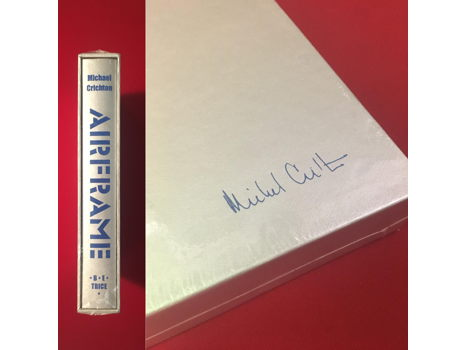Signed Limited Edition Michael Crichton book from Garden District Book Shop