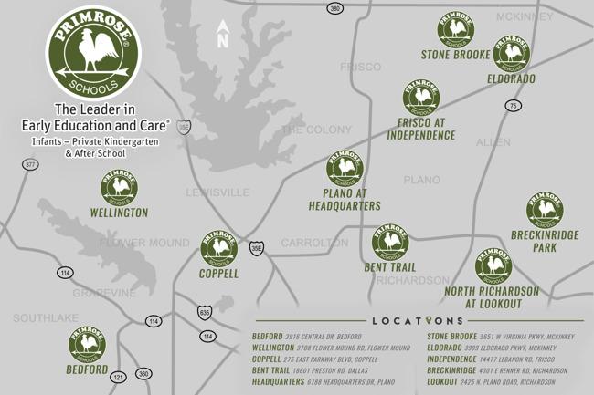 DFW Konrad Primrose Schools Locations