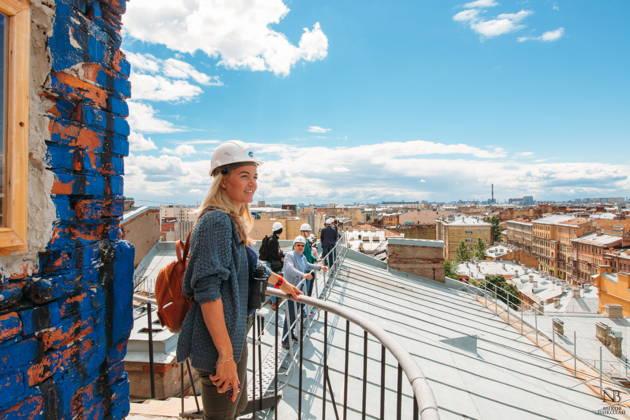 Экскурсия на безопасную высотную крышу