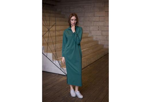 Платье длинное зеленое