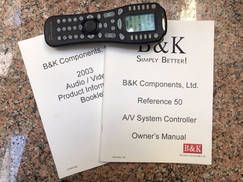 B&K Components Reference 50 Excellent Condition w/box, manual, remote.
