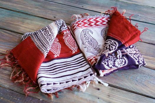 Шёлковые бенгальские шарфы