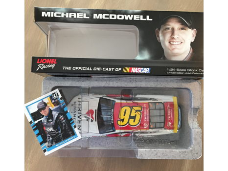 NASCAR Replica Die-Cast Car & Trading Card