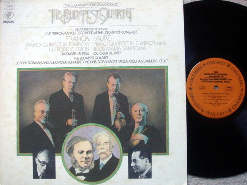Columbia Odyssey / BUDAPEST QT, - Franck Piano Quintet, NM!