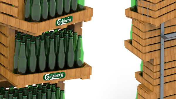 Floor stand for Carlsberg