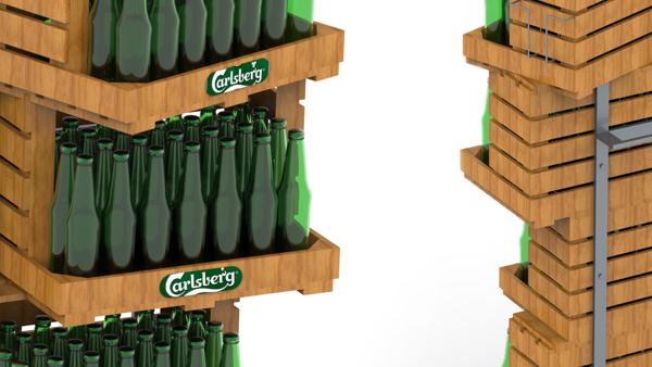 Floor stand for Carlsberg