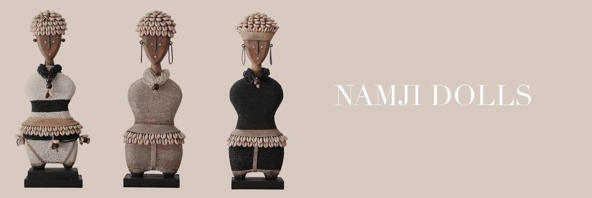 Namji Dolls - Bamileke Stools, Tonga Stools, Zebra Pillows and Binga Baskets