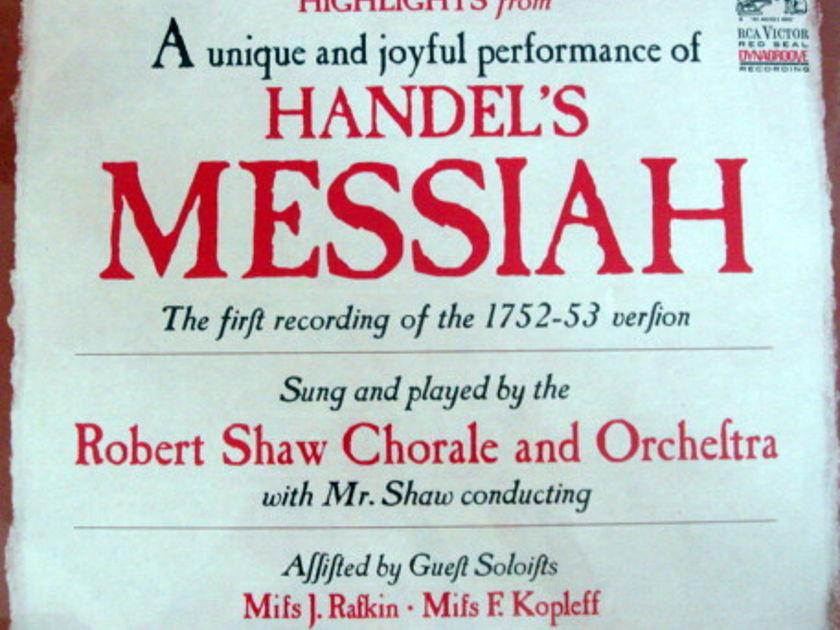 ★Sealed★ RCA STEREO / - ROBERT SHAW, Handel Messiah!