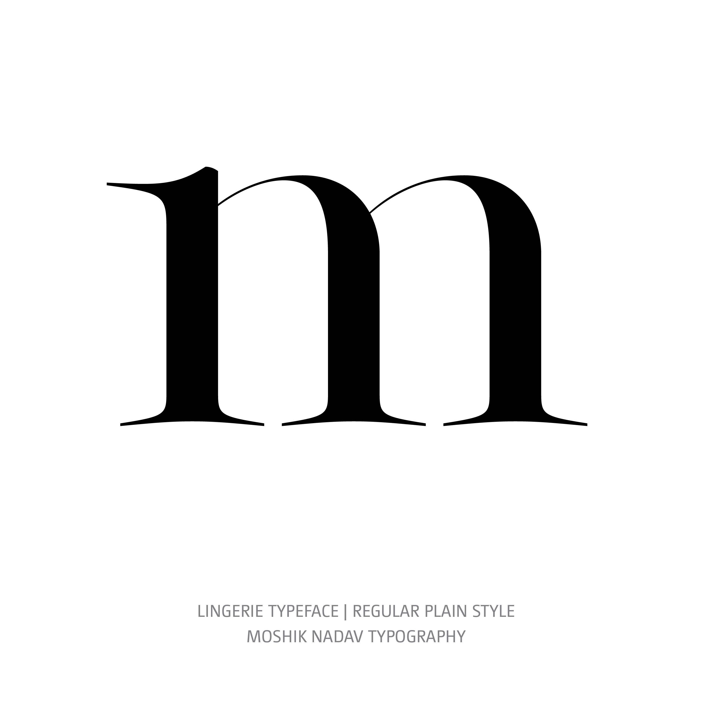 Lingerie Typeface Regular Plain m
