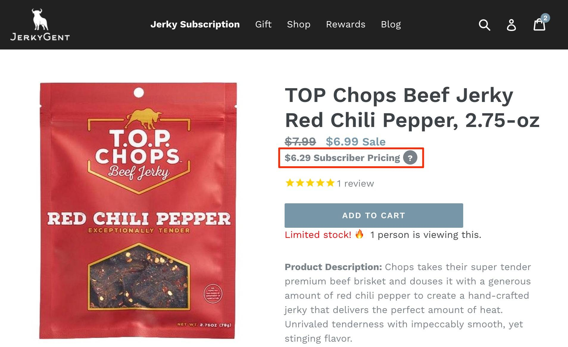 JerkyGent Subscriber Pricing - Discounts For Beef Jerky Of The Month Club Members