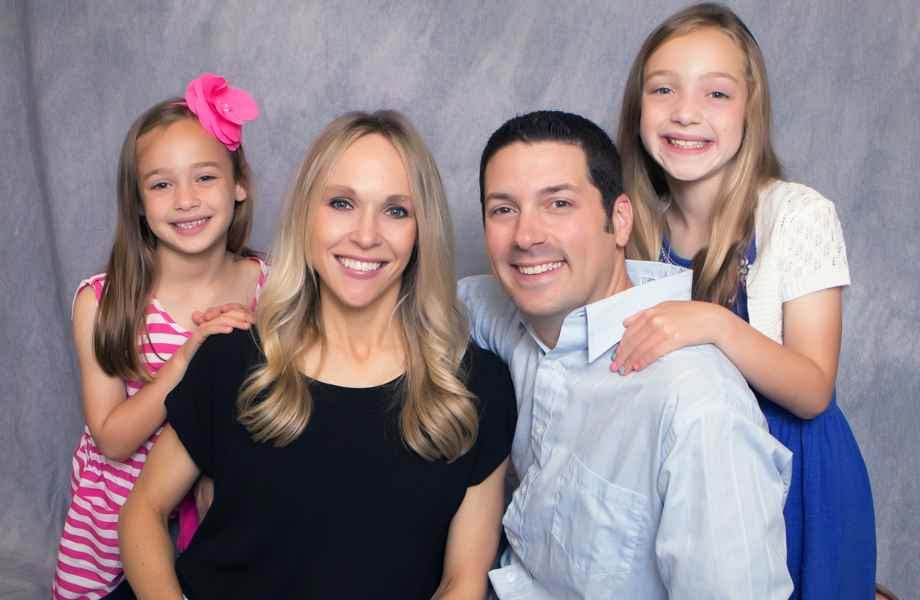 Franchise Owners of Primrose School Andrea and Craig Turner with their family
