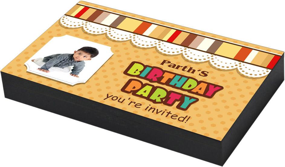 Customised photo printed invitation
