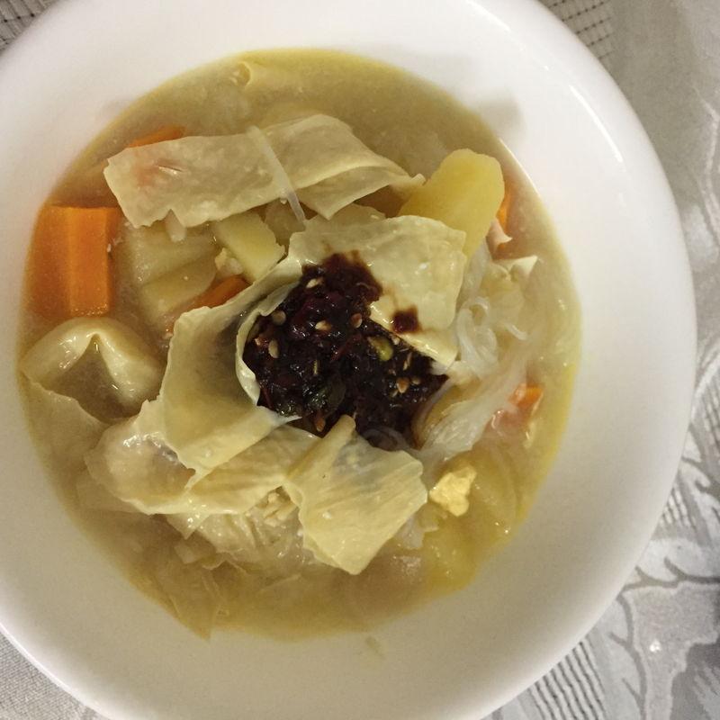 So hoon soup with sambal kicap