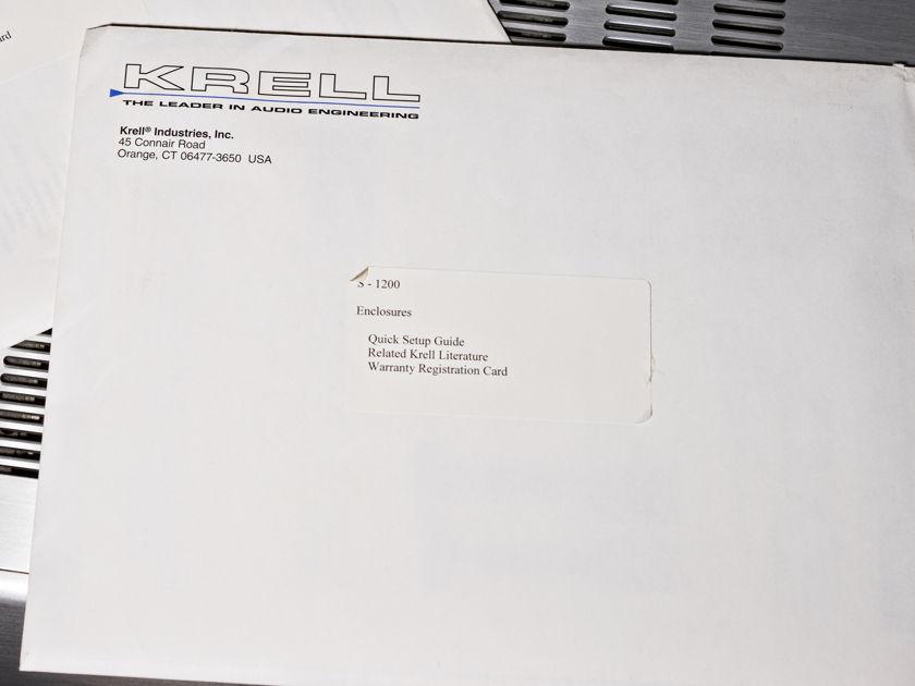 Krell S-1200 Processor - DTS HD & Dolby True HD
