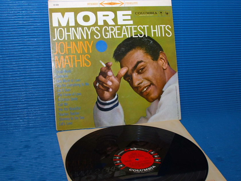 """JOHNNY MATHIS -  - """"More Johnny's Greatest Hits"""" - Colombia '6 Eye' 1959 Stereo"""