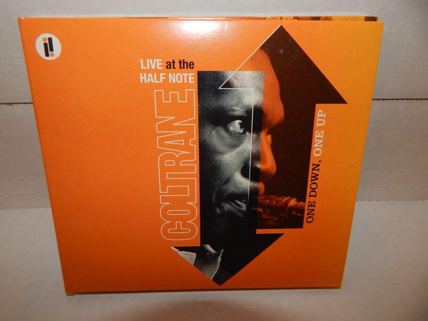 JOHN COLTRANE ONE DOWN, ONE UP Live At The Half - Note McCoy Tyner Elvin Jones 2005 Verve Impulse tri-fold booklet NM 2 CD