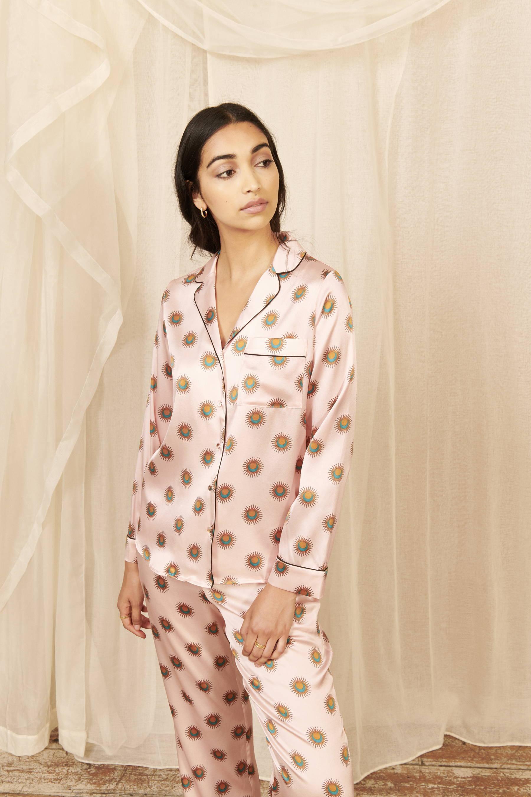 Soleil's Women Classic Silk Pyjama Set   Silk Pyjama Sets   YOLKE