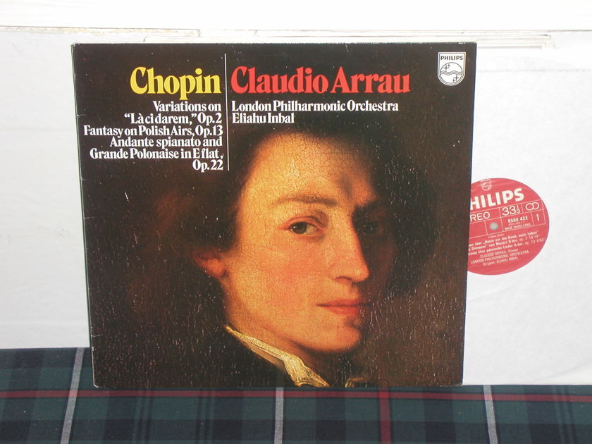 Arrau/Inbal/LPO - Chopin Variations Philips Import Pressing 6500