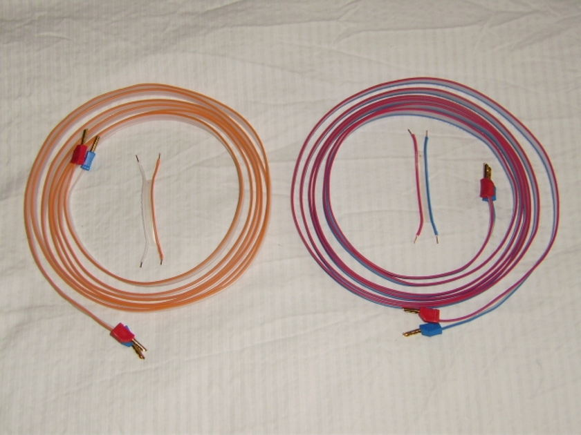DNM Stereo Solid Core Speaker Cables 3.5 Meters