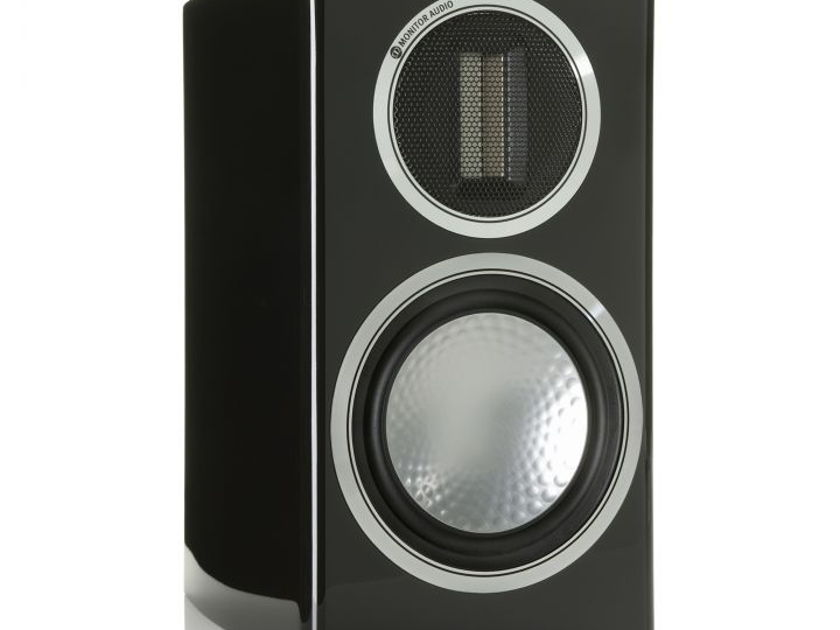 MONITOR AUDIO Gold 50 Bookshelf Loudspeakers: C-Stock; One Year Manufacturer's Warranty; Gloss Black; 50% Off