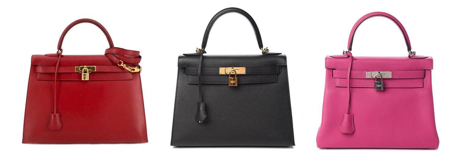 Three Hermes Kelly Bags