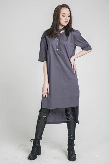 Удлиненная ассиметричная рубашка