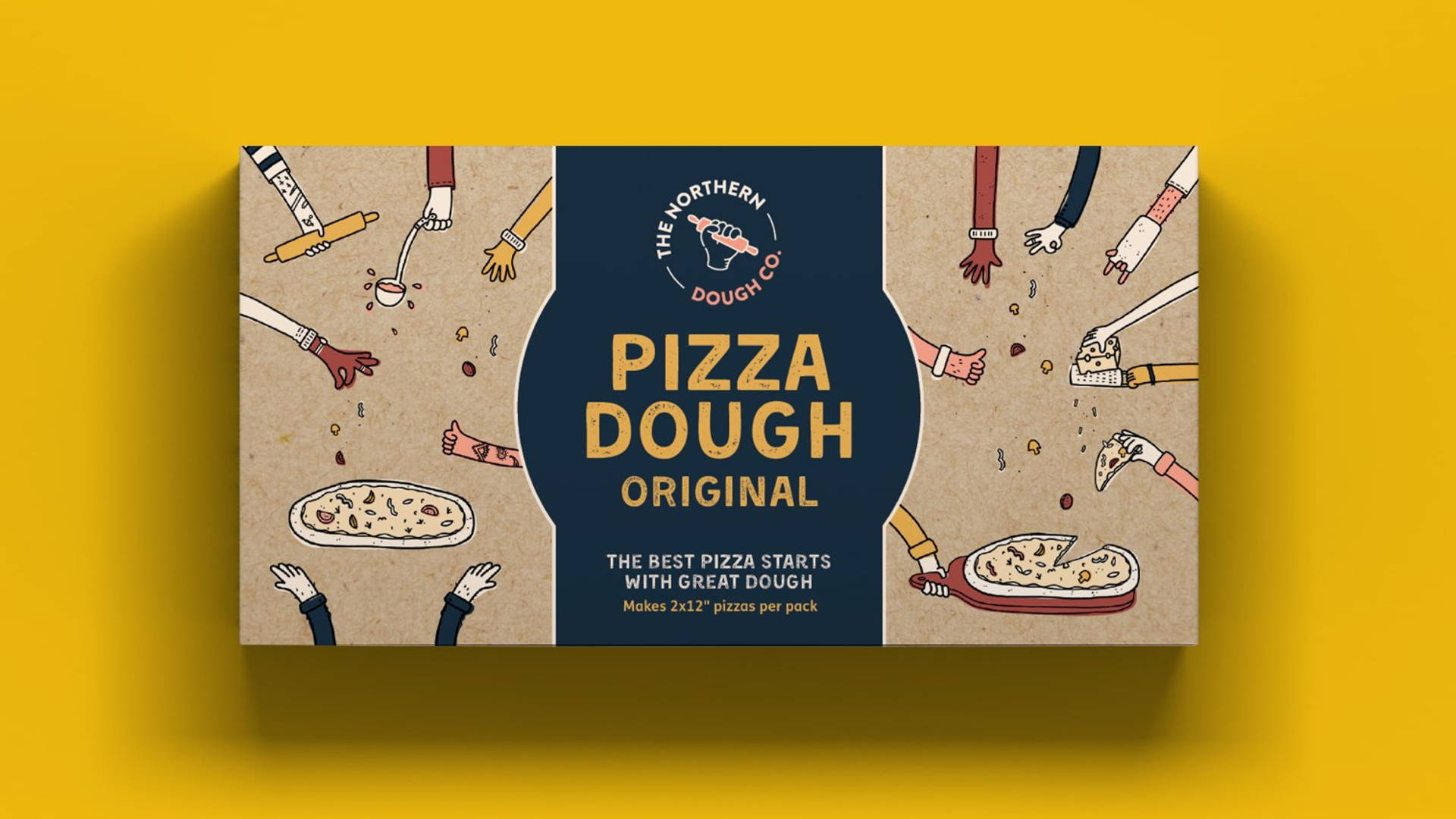 We Love This Adorably Illustrated Pizza Dough Packaging