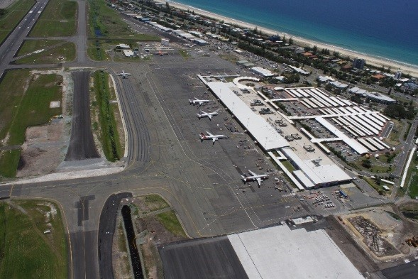 The Taxiway Charlie project involved construction a new piece of pavement linking taxiways at the Gold Coast Airport