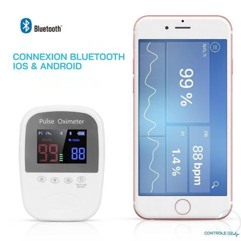 Oxymètre de pouls d'oreille  Bluetooth pour chat et chien phone