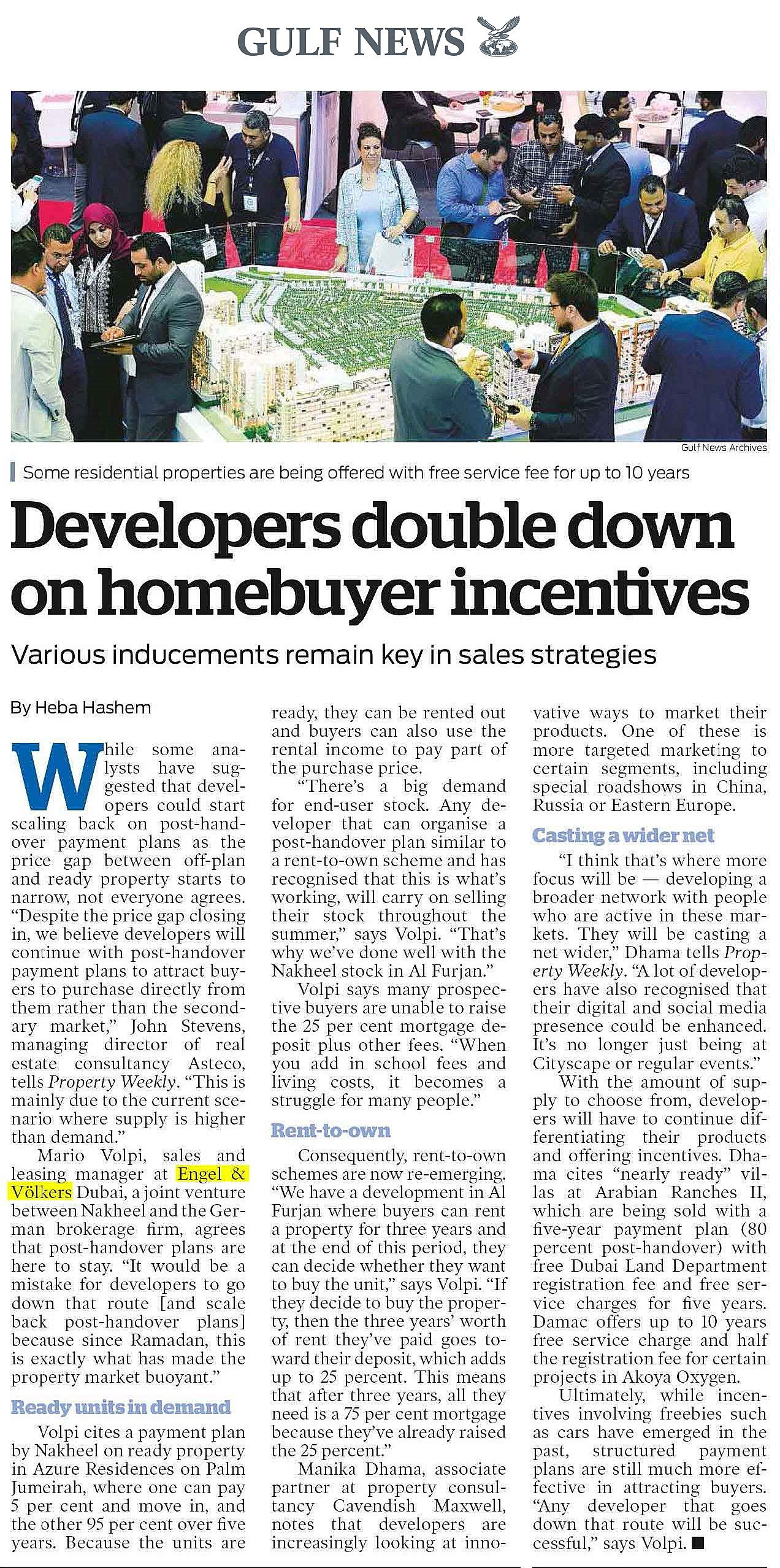 Dubai, United Arab Emirates - PW - Developers double down on homebuyer incentives - Aug 18 - Copy.jpg