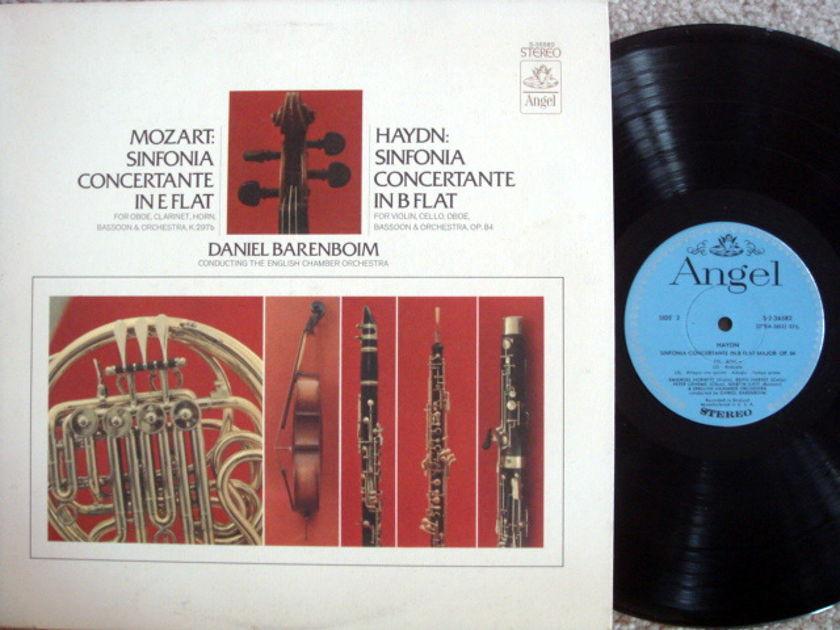 EMI Angel Blue / BARENBOIM, - Mozart-Haydn Sinfonia Concertantes, MINT!