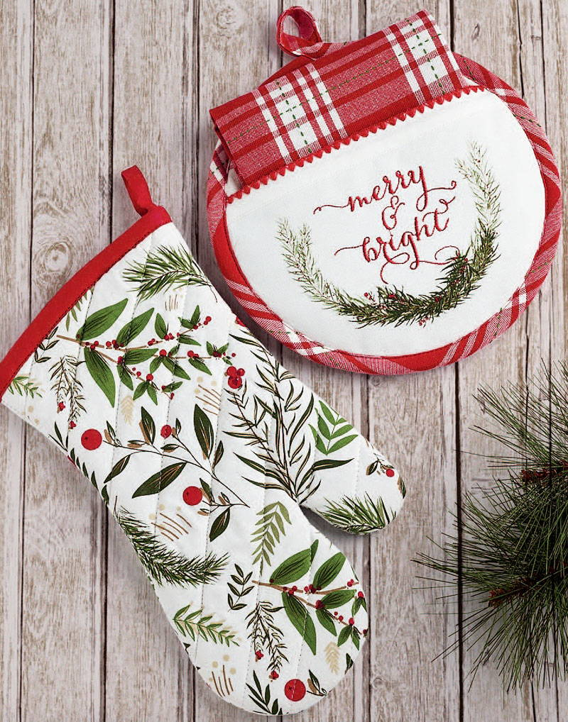 wholesale christmas potholders and oven mitts
