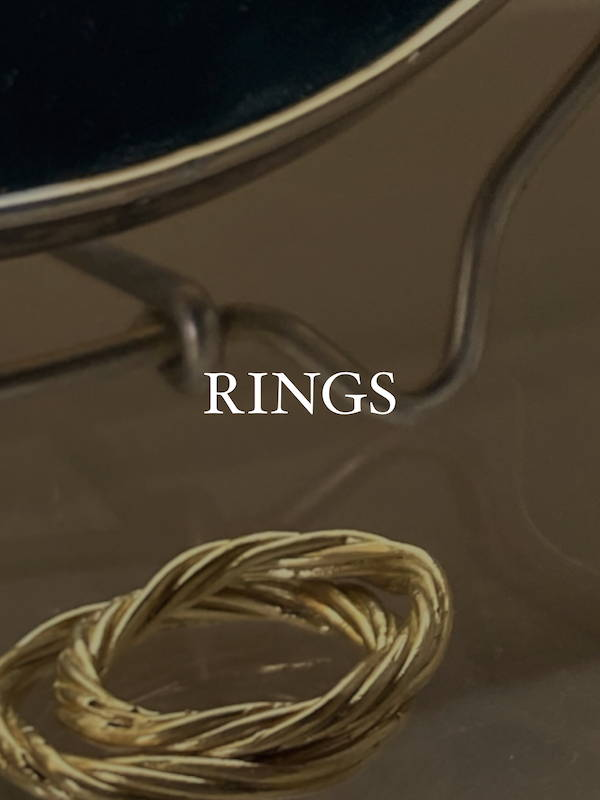 Modern Brass rings and brass jewelry