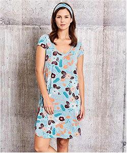 Model wearing This is J Tessa Flower nightie