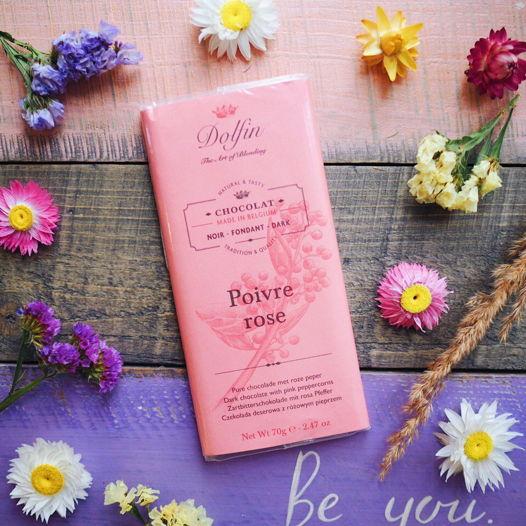 Бельгийский шоколад  с розовым перцем